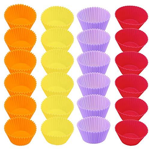 Hoogwaardige Siliconen Bakvorm,Herbruikbare Muffinvorm,Milieuvriendelijke Cupcake Vorm,Hittebestendig Materiaal-4…