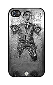 iZERCASE OBAMA in Carbonite Hard iphone 4 case - Fits iphone 4 & iphone 4s