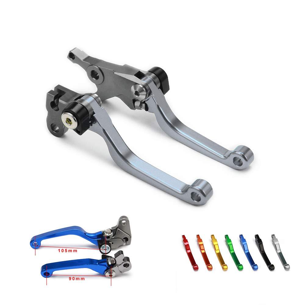 Levier de Frein et dembrayage Pliable en Aluminium CNC pour Moto Hors-Route Yamaha WR250F WRF 250 WR450F 450 2005-2015 05-15 Titane