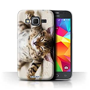 STUFF4 Phone Case / Cover for Samsung Galaxy Core Prime / Flat Out Design / Cute Kittens Collection