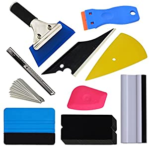 Ehdis New Arrival Plus! 9 Kinds Vehicle Glass Protective Film Car Window Wrapping Tint Vinyl Installing Tool: Squeegees, Scrapers, Film Cutters, Felts