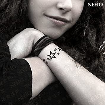 Fashion For Men Women Hand Ring Black Five Pointed Star Tattoo
