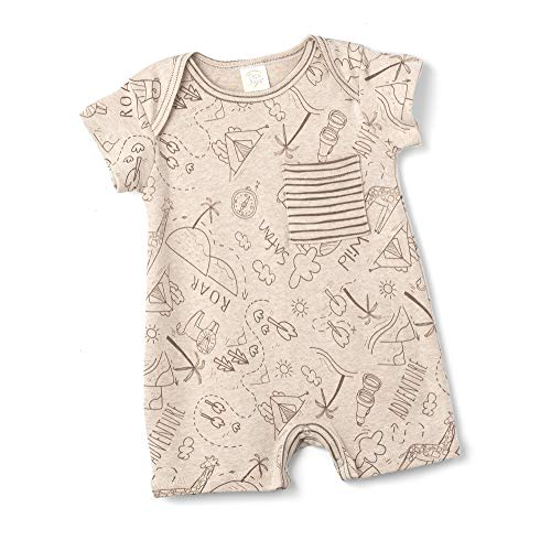 Tesa Babe Romper with Expedition Hiking & Camping Print for Newborns & Baby Boys (Shortie Romper, 0-3 Months)