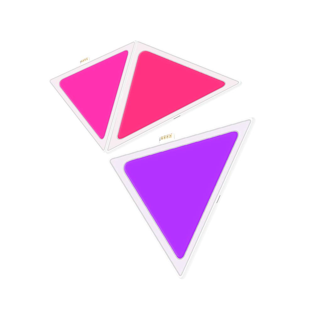 BENEXMART Smart LED Light Panels 9 PCS Multicolor Triangle Panel Bluetooth Android/iOS APP Music Control Kit for Room/Party/Wall Lighting (3 Pieces Panel kit)