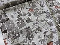 トムとジェリー コミック2 シンプル オックス生地 |キャラクター|生地|布|入園入学|通園通学|キッズ|男の子|女の子|の商品画像