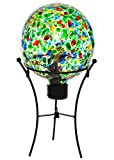 Russco III GD132208 Glass Gazing Ball, Green