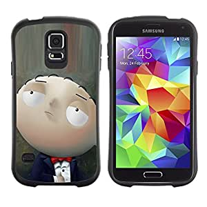 Paccase / Suave TPU GEL Caso Carcasa de Protección Funda para - Character Cartoon Family Baby Smart - Samsung Galaxy S5 SM-G900