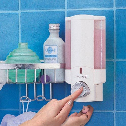 Better Living Products 76254-14BSK AVIVA Dispenser Shower Basket, White by Better Living (Image #2)