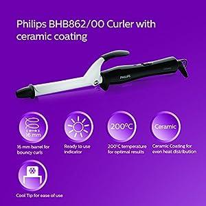 Philips BHB862 Hair Curler (Black/White)