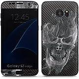 Samsung Galaxy S7 Edge Case Skin Sticker aus Vinyl-Folie Aufkleber Totenkopf Carbon Smoke