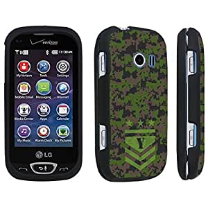DuroCase ? LG Extravert 2 Hard Case Black - (Army Camo Monogram Y)