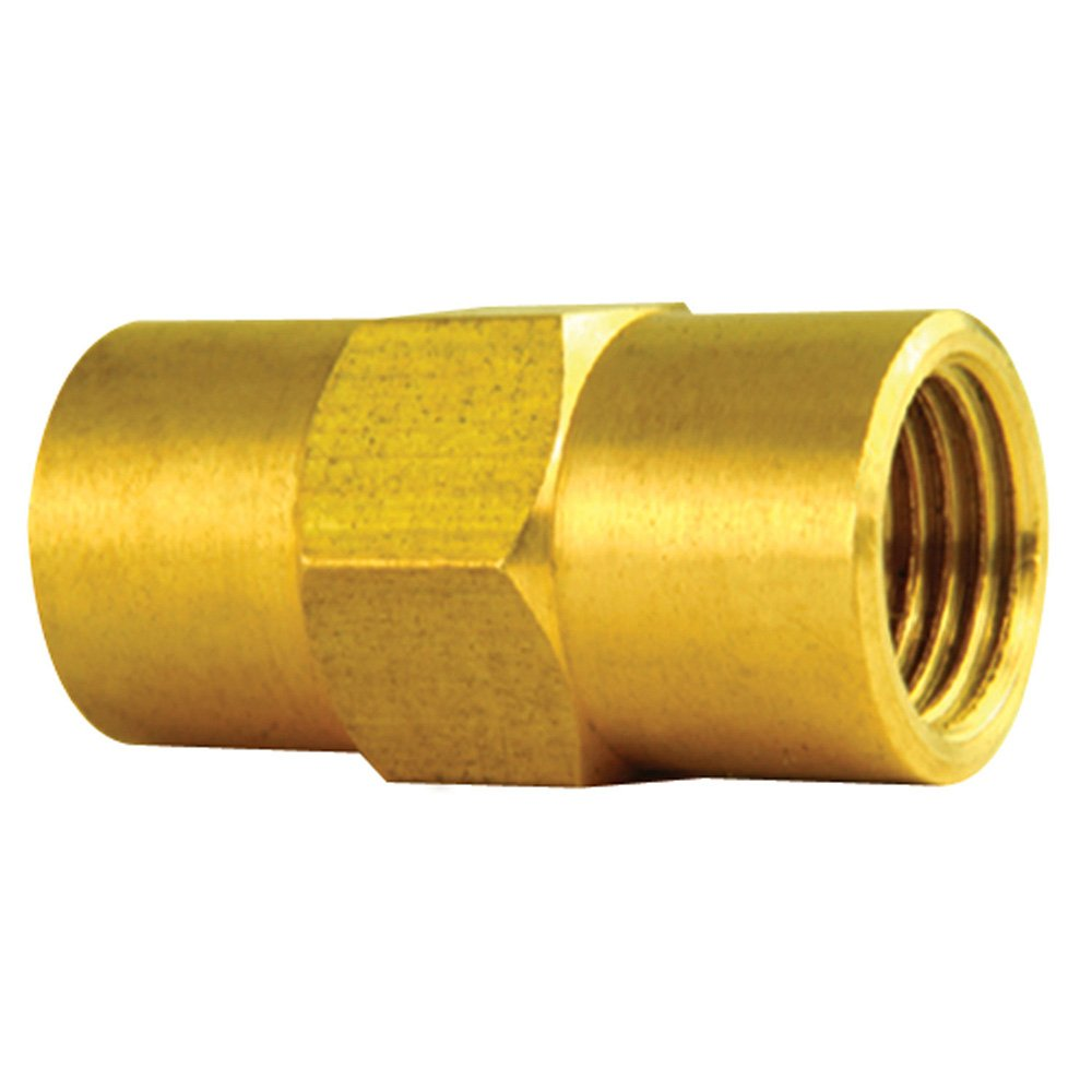 Brass Union - 3/16' Line - Both Sides Female Metric M10 X 1.0 Thread - Inverted Flare - Pack of 10 4LifetimeLinesTM