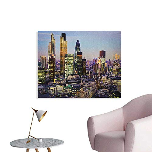 City Wallpaper Modern Architecture of Downtown London Center of Global Finance Famous Capital City Space Poster Multicolor W48 xL32]()