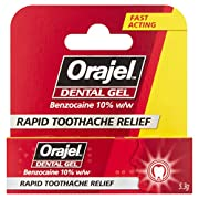 Orajel – Dental Gel – Relief of acute toothache – with Benzocaine – 5.3g