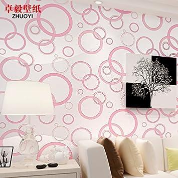 ZZYY* Kreise Wohnzimmer TV Wand Schlafzimmer Tapete Vlies Tapete Schwarz  Weiß, Personalisierte