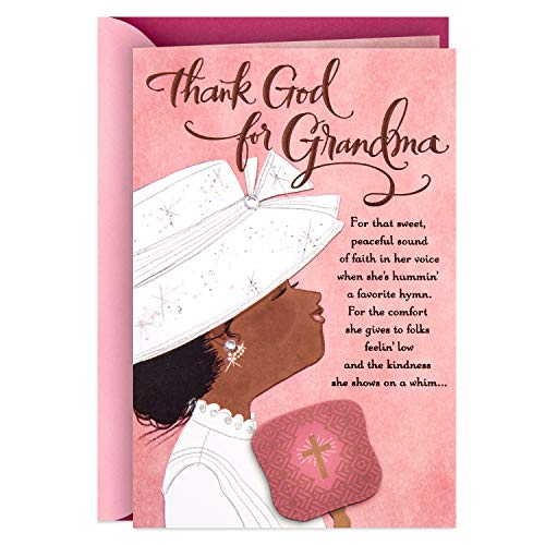 Hallmark Mahogany Religious Mothers Day Card for Grandmother (Angels Must Really Exist)