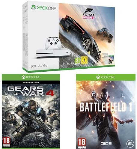 Pack Consola Xbox One S 500 Go + Forza Horizon 3 + Gears Of War 4 ...