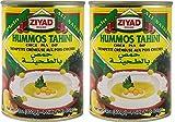 ZIAYD Premium Hummus with Tahini Sauce 14Oz. x 2 PKS - حمص بالطحينة 400 غرام عدد 2