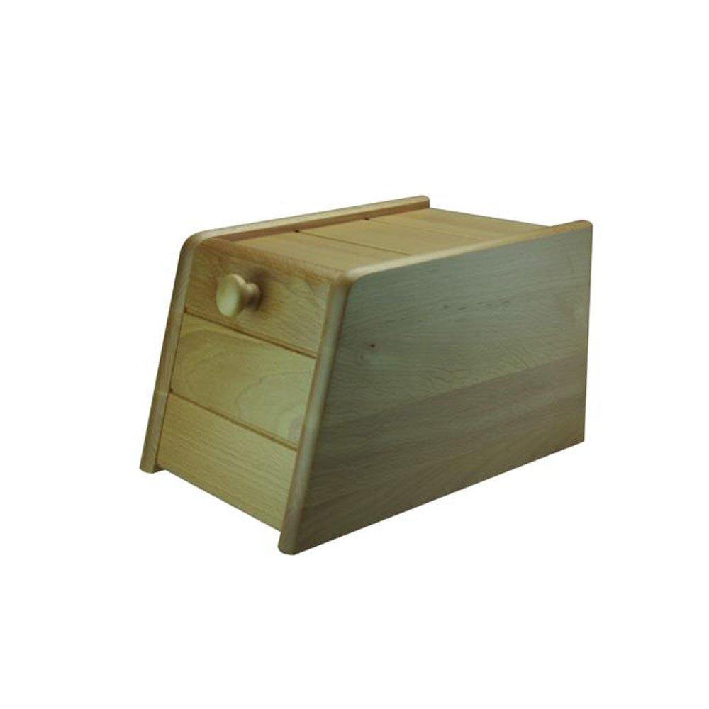Apollo - Portapane in legno di faggio con apertura frontale, 40 cm 7385