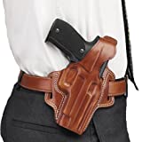 Galco Fletch High Ride Belt Holster for 1911 5-Inch Colt, Kimber, para, Springfield (Tan, Right-Hand)