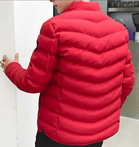 Collar Coat Down M Packable Red Quilted Lightweight Jacket Men's amp;S amp;W Stand qzazfX4