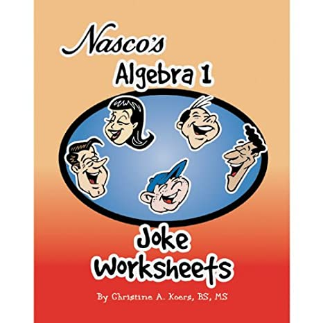 Free Worksheets education com free worksheets : Amazon.com: Nasco TB21475T Algebra 1 Joke Worksheets, 80-Page Book ...