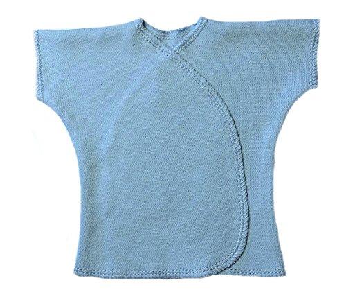 Jacqui's Unisex Baby Light Blue Short Sleeve Kimono T-Shirt, - Sleeve Kimono Tee Short