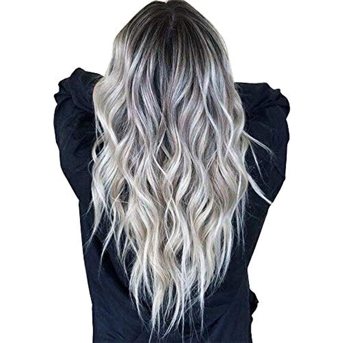 撤退透過性カリングウィッグキャップかつらで長いファンシードレスカールウィッグ高品質の人工毛髪コスプレ高密度ウィッグ女性と女の子のためのかつら27.5インチv