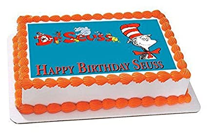 Amazoncom Dr Seuss Edible Cake Topper 75 x 10 14 sheet