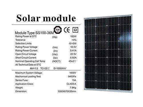 Panel Solar 100/W 12/V polycristallin-ecowatt Ecowatt