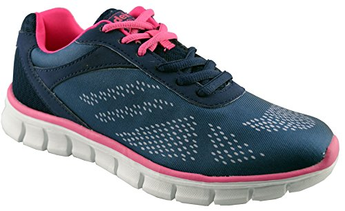 Dek Womens Synthetic Leather Running Shoes 5 Blue 34mfh