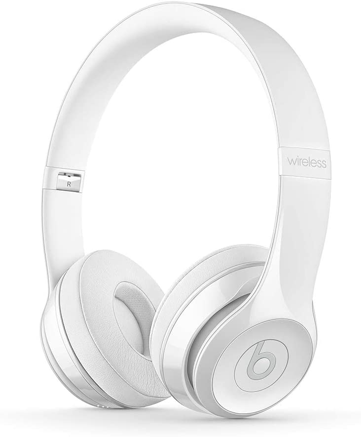 Amazon Com Beats Solo3 Wireless On Ear Headphones Apple W1 Headphone Chip Class 1 Bluetooth 40 Hours Of Listening Time Gloss White Previous Model