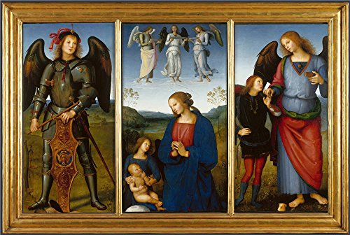 Oil Painting 'Pietro Perugino Three Pane - 72 Center Mount Fountain Shopping Results