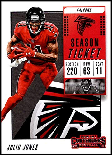 - 2018 Panini Contenders Season Tickets #94 Julio Jones NM-MT Atlanta Falcons Official NFL Football Card