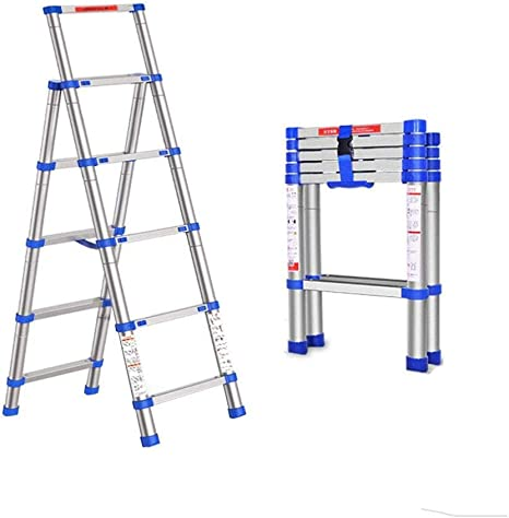 YXLONG Escalera Telescópica Plegable Reposapiés Taburete Escalera Baja Taburete Escalera Telescópica Escalera Portátil Plegable De Aluminio De 5 Pasos Marco A Multiusos,Silver: Amazon.es: Deportes y aire libre