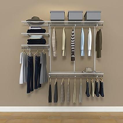 Charmant Organized Living FreedomRail Ventilated Shelf Premium Closet Kit, 4 6 Foot    White