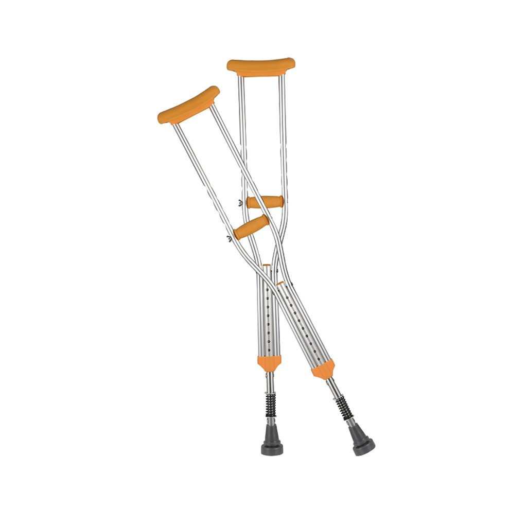 HAIYING 脇の下アルミ合金調節可能な高さ調節可能な二重松葉杖、人間工学に基づいたグリップと砲弾フォームで耐久性のあるPVCハンドル B07D6SYCKC