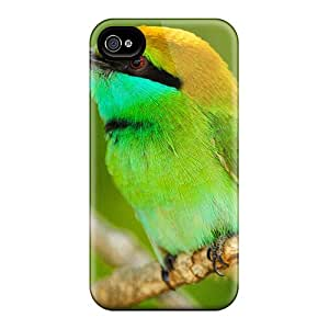 Tough Iphone USmLMcc973wpLoV Case Cover/ Case For Iphone 4/4s(little Green Bird)
