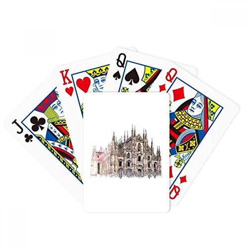 Milan Cathedral in Milan Italy Poker Playing Card Tabletop Board Game Gift by beatChong