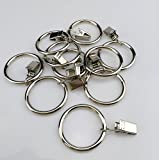 Wenmeili 14-pack Silver Metal Curtain Rings with