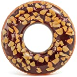 "Intex Nutty Chocolate Donut Inflatable Tube Realistic Printing, 45"" Diameter"