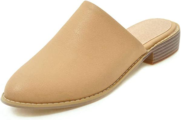 WOMEN LADIES 100/%  ECO LEATHER SLIPPER MULES CLOGS FLIP-FLOP SHOES ALL SIZES