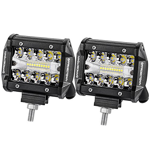 LED Pods, Offroad Town 2pcs 4'' 120W LED Work Light OSRAM Off road Driving Lights Spot Flood COMBO Fog lights Waterproof LED Cubes for Truck Jeep Boat Pick Up UTV ATV Marine, 3 Years Warranty