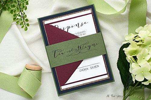 Personalized Unique Calligraphy Wedding Invitation Set, Traditional Invitation Suite, SAMPLE Tia