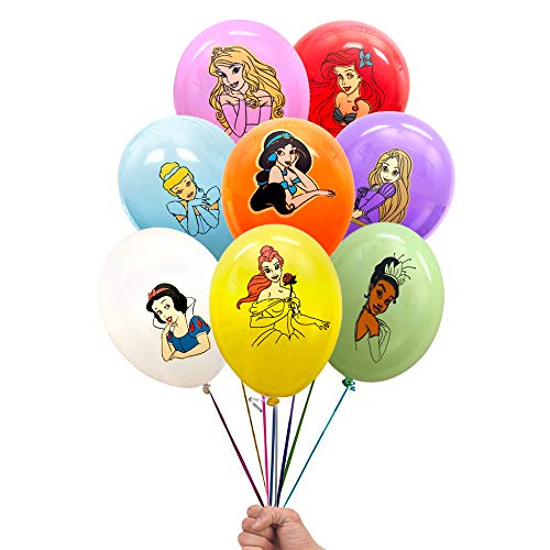 Disney Princess Birthday Balloons (Princess Inspired 24 Count Birthday Party Balloon Pack - Large 12