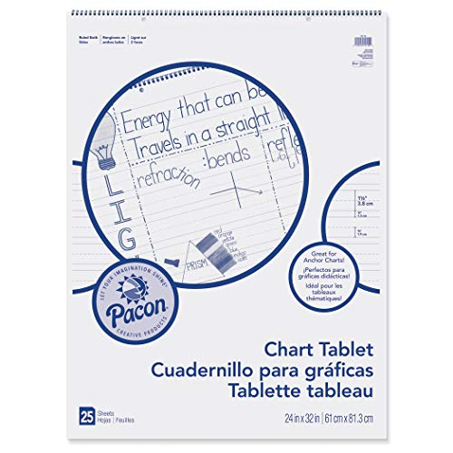 - Pacon PAC74710BN Chart Tablet, Manuscript Cover, 1-1/2