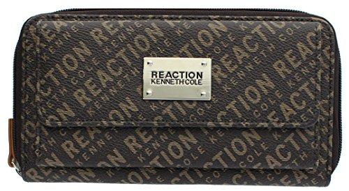 Kenneth Cole Reaction Womens Napa Zip-Around Urban Organizer Wallet (PRINTED TAN)