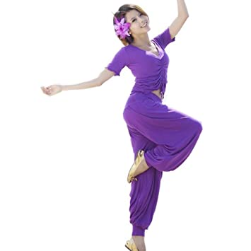 Wgwioo Belly Dance Yoga Conjunto Seda Mercerizada Algodón ...
