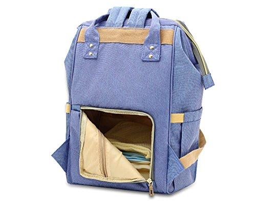 Bolso de la momia, bolso de múltiples funciones de la mamá de la gran capacidad, morral de los hombros, bolso de la madre de la manera, bolso del bebé de la madre ( Color : Blue-purple ) Pink