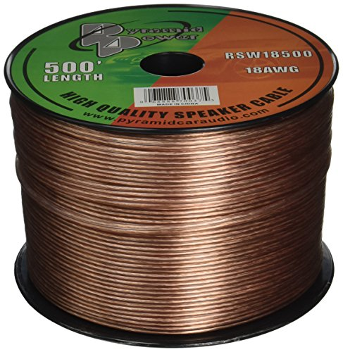 Wire 500' Spool - Pyramid RSW18500 18 Gauge 500 Feet Spool of Speaker Zip Wire